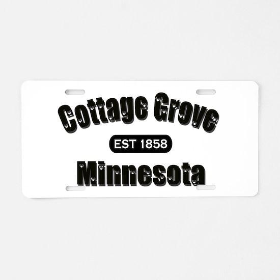 I Love Cottage Grove Aluminum License Plate