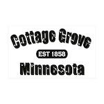 I Love Cottage Grove 38.5 x 24.5 Wall Peel