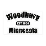 I Love Woodbury 38.5 x 24.5 Wall Peel