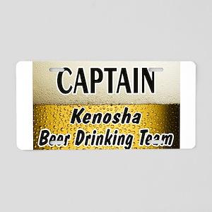 Kenosha Beer Drinking Team Aluminum License Plate