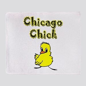 Chicago Chick Throw Blanket