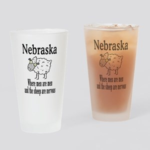 Nebraska Sheep Drinking Glass
