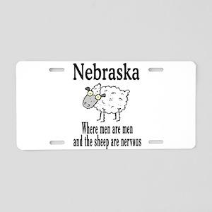Nebraska Sheep Aluminum License Plate