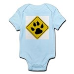 Cat Crossing Sign Infant Creeper