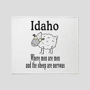 Idaho Sheep Throw Blanket