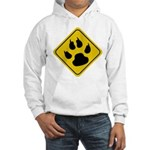 Cat Crossing Sign Hooded Sweatshirt