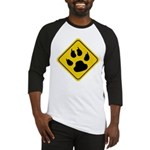 Cat Crossing Sign Baseball Jersey