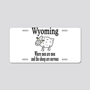 Wyoming Sheep Aluminum License Plate