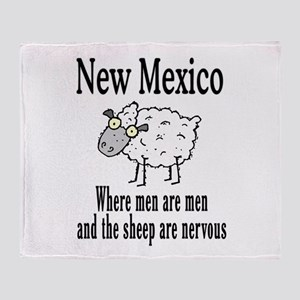 New Mexico Sheep Throw Blanket
