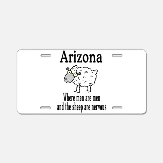 Arizona Sheep Aluminum License Plate