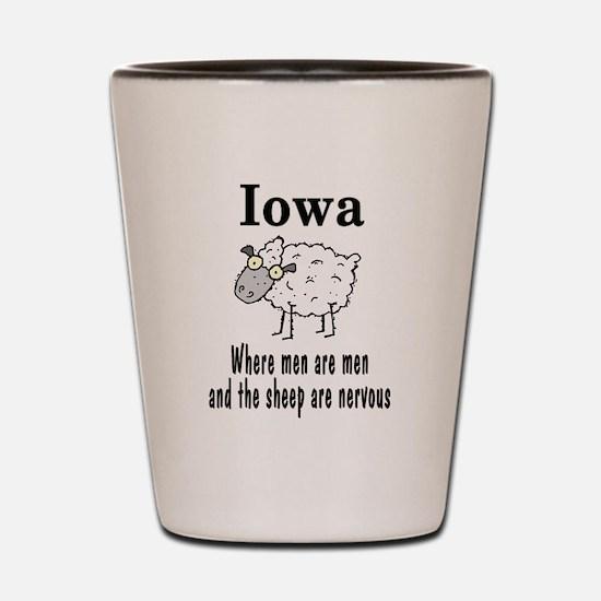 Iowa Sheep Shot Glass