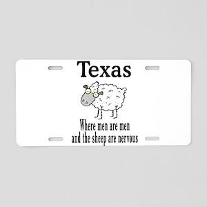 Texas Men Aluminum License Plate