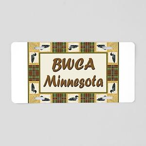 BWCA Loon Aluminum License Plate
