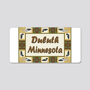 Duluth Loon Aluminum License Plate