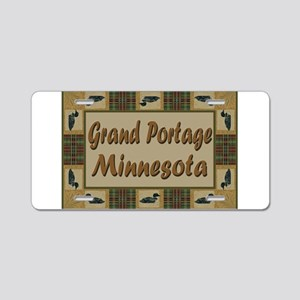 Grand Portage Loons Aluminum License Plate