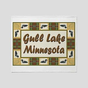 Gull Lake Loon Throw Blanket