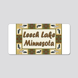 Leech Lake Loon Aluminum License Plate