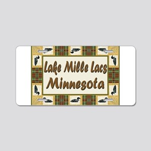 Mille Lacs Loon Aluminum License Plate
