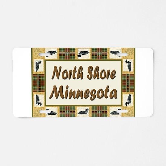 North Shore Loon Aluminum License Plate