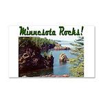Minnesota Rocks! Car Magnet 20 x 12