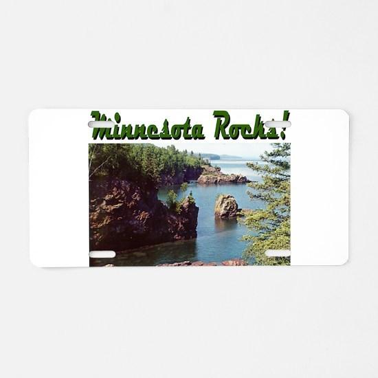 Minnesota Rocks! Aluminum License Plate