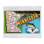 1940's Minnesota Map Throw Blanket
