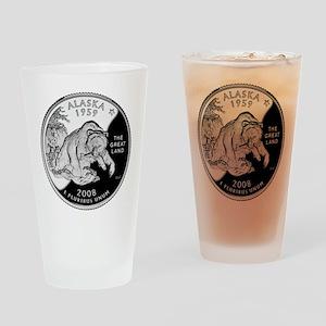 Alaskan Quarter Drinking Glass
