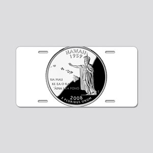 Hawaii Quarter Aluminum License Plate