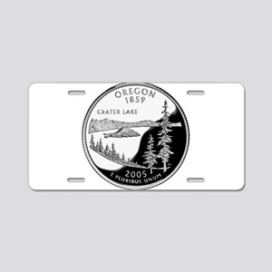 Oregon Quarter Aluminum License Plate