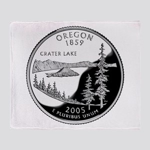 Oregon Quarter Throw Blanket
