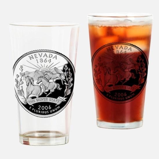 Nevada Quarter Drinking Glass