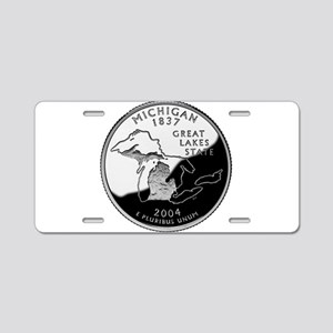 Michigan Quarter Aluminum License Plate