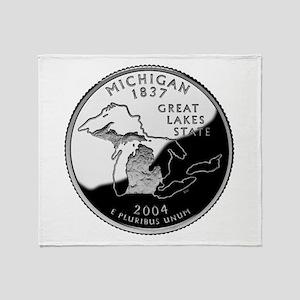 Michigan Quarter Throw Blanket