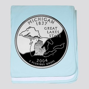 Michigan Quarter baby blanket