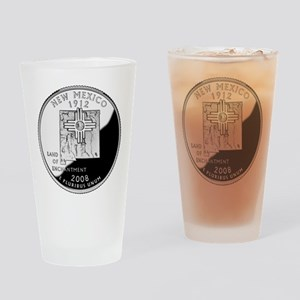 New Mexico Quarter Drinking Glass