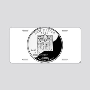 New Mexico Quarter Aluminum License Plate