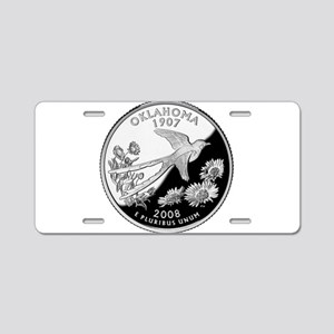 Oklahoma Quarter Aluminum License Plate
