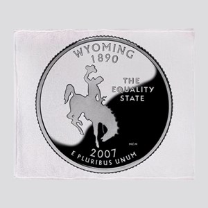 Wyoming Quarter Throw Blanket
