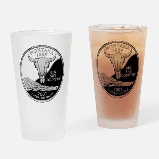 Montana Quarter Drinking Glass