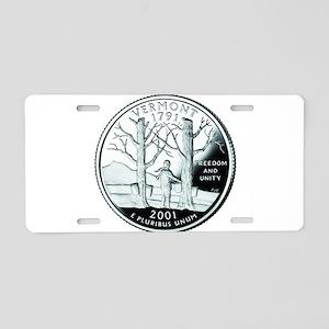 Vermont Quarter Aluminum License Plate