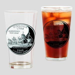 Virginia Quarter Drinking Glass