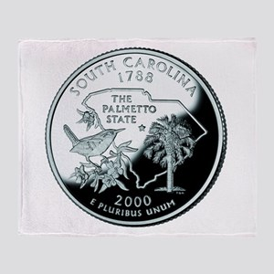 South Carolina Quarter Throw Blanket