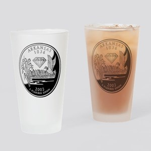 Arkansas Quarter Drinking Glass