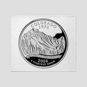 Colorado Quarter Throw Blanket
