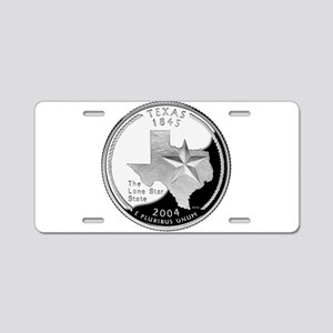 Texas Quarter Aluminum License Plate