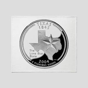 Texas Quarter Throw Blanket