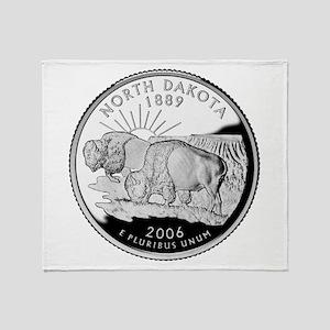 North Dakota Quarter Throw Blanket