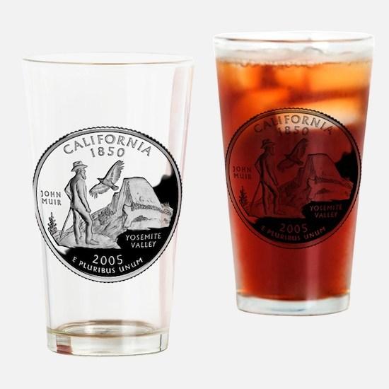 California Quarter Drinking Glass