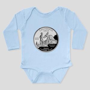 California Quarter Long Sleeve Infant Bodysuit