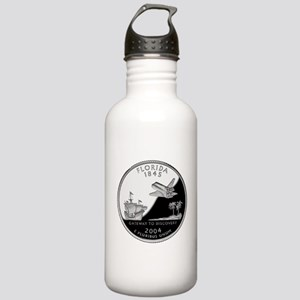Florida Quarter Stainless Water Bottle 1.0L